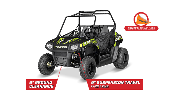 RZR 170 EFI - LONGTRAVEL FRONT & REAR SUSPENSION